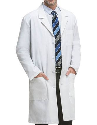 Cherokee Unisex Three Pocket Long Twill Medical Lab Coat-CH-1446