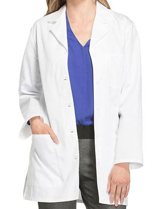 Cherokee Women Three Pocket 32 Inches Short Medical Lab Coat