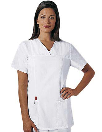 Cherokee Whites Womens Two Pocket Scrub Top-CH-1933WH