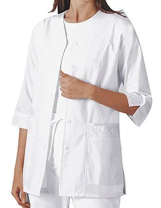 Cherokee Womens 29.5 inch Three Quarter Sleeve Medical Scrub Jacket