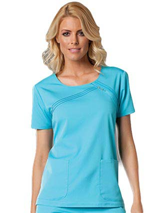 Cherokee Luxe Women Two Pocket Scoop Neck Scrub Top-CH-1998