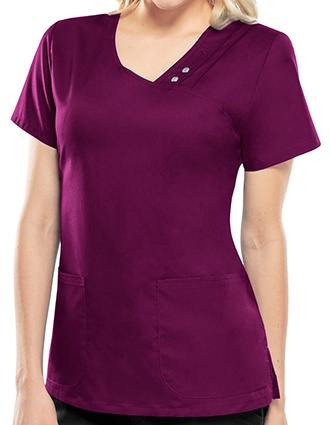 Cherokee Luxe Women's V-Neck Nursing Scrub Top-CH-1999