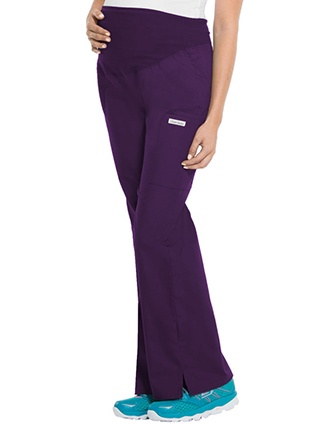Cherokee Three Pockets Maternity Flare Medical Scrub Pants-CH-2092