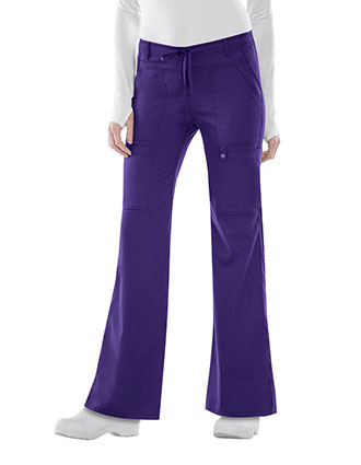 Cherokee Luxe Junior Flare Drawstring Petite Scrub Pants