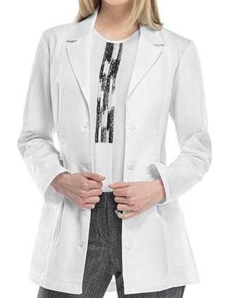 Cherokee Women's White 30 Inches Two Pocket Short Lab Coat-CH-2316