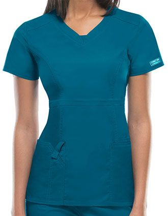 Cherokee WorkWear Junior Empire Waist Scrub Top-CH-24703