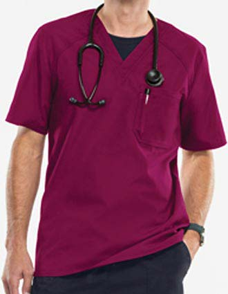 Cherokee Flexibles Men's Short Sleeve V-Neck Scrub Top-CH-2611