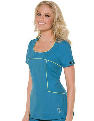Buy Baby Phat Women Color Play Nurse Scrub Top For 14 45