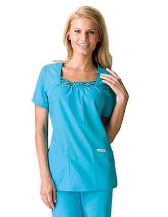 Buy Cherokee Uniforms Womens Shirred Basic Nurses Scrub