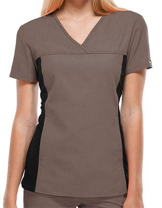Cherokee Flexibles Womens Two Pocket V-Neck Nurses Scrub Top-CH-2874