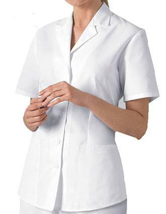 Cherokee Women Two Pocket White Nursing Scrub Top-CH-2878