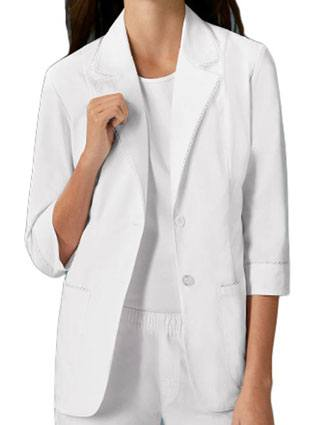 Cherokee Studio Women 3/4 Sleeve 29 Inch Short Lab Coat-CH-3371