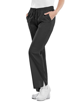 Cherokee Workwear WW Flex Women's Petite Mid-rise Moderate Flare Drawstring Pant