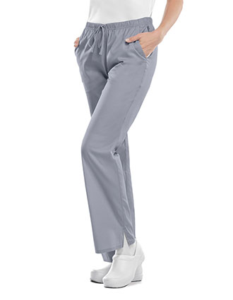 Cherokee Workwear WW Flex Women's Tall Mid-rise Moderate Flare Drawstring Pant