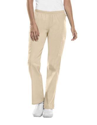 Cherokee Workwear WW Flex Women's Tall Mid Rise Straight Leg Elastic Waist Pant