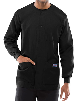 Cherokee Workwear Men's Snap Front Warm-Up Jacket-CH-4450
