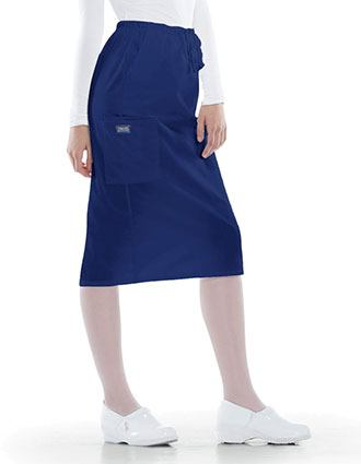 Cherokee Workwear 30 Inches Drawstring Nursing Scrub Skirt-CH-4509