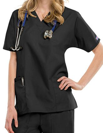 Cherokee Workwear Women's Two Patch Pockets Nurse Scrub Top-CH-4700