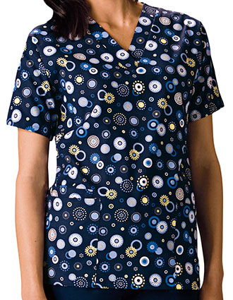 Buy Cherokee Hq Womens V Neck Dot S Wonderful Print Scrub