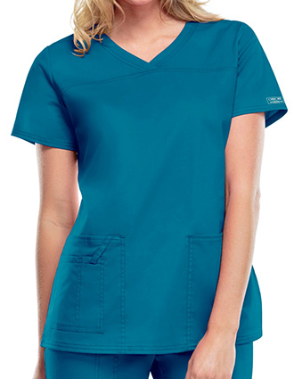 Cherokee Workwear Women's V-Neck Nursing Scrub Top-CH-4727