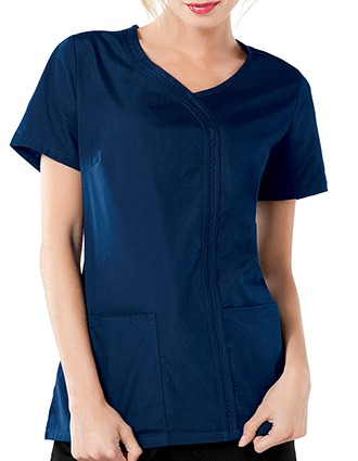 Cherokee Workwear Women Asymmetrical Scrub Top-CH-4747