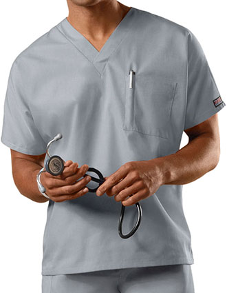 Cherokee Workwear Unisex V-Neck Single Pocket Scrub Top-CH-4777