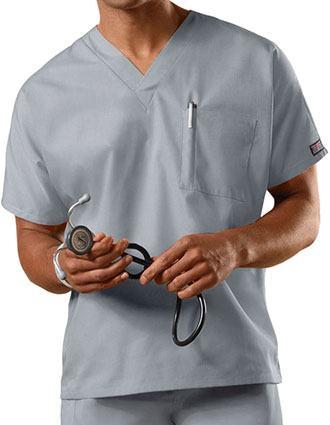 Cherokee Workwear Unisex V-Neck Single Pocket Scrub Top
