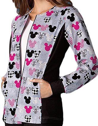 Disney Women Zip Front M-I-C-K-E-Y Warm-Up Jacket