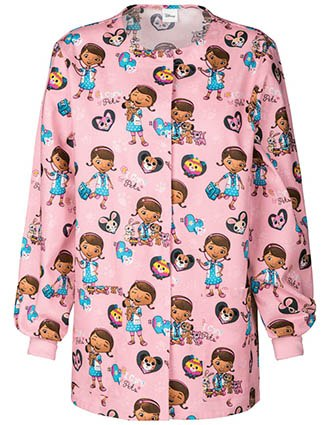 Tooniforms Disney Women's I Care For Pets Snap Front Warm-Up Jacket