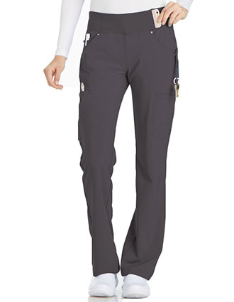 Cherokee iflex Women's Mid-Rise Straight Leg Cargo Tall Scrub Pant
