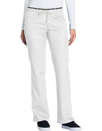 Cherokee Luxe Sport Womens Mid Rise Straight Leg Pull-on Scrub Pant