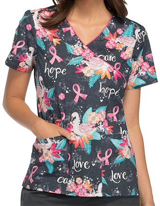 Cherokee Breast Cancer Awareness Women's Mock Wrap Top