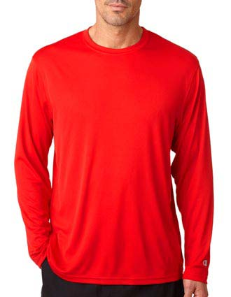 CW26 Champion Adult Double Dry Long-Sleeve Interlock T-Shirt-CH-CW26