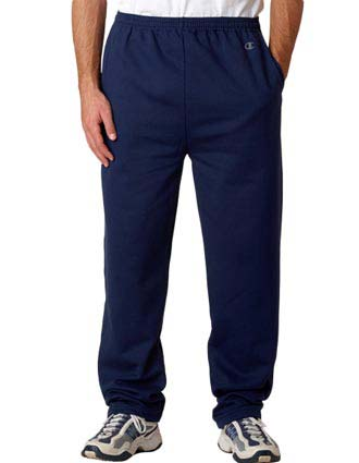 P800 Champion Adult Eco® Open-Bottom Fleece Pants with Pockets-CH-P800