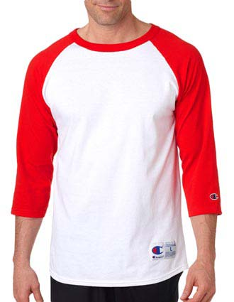 T137 Champion Adult Raglan Baseball T-Shirt-CH-T137