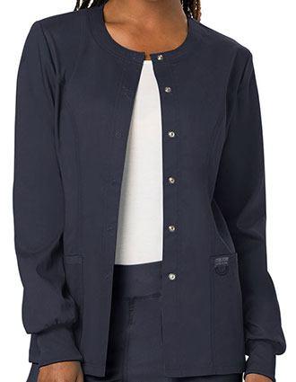 Cherokee Workwear Revolution Womens Snap Front Warm-up Jacket