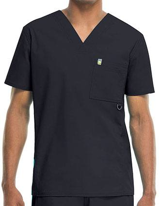 Code Happy Bliss w/ Certainty Plus Men's V-Neck Scrub Top