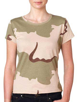 3665 Code V Ladies' Fine Cotton Jersey Camouflage T-Shirt-CO-3665