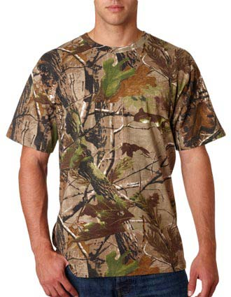 3980 Code V Adult REALTREE® Camouflage Cotton T-Shirt-CO-3980
