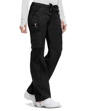 Code Happy Bliss w/Certainty Plus Women's Low Rise Drawstring Cargo Pant-CO-46000AB
