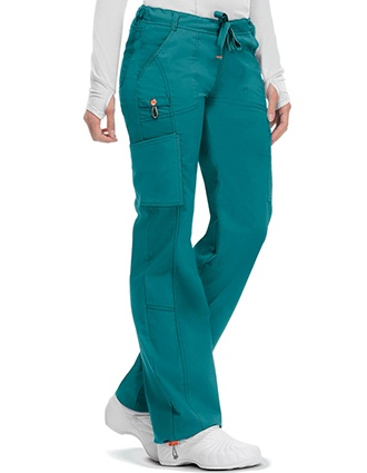Code Happy Bliss w/Certainty Plus Women's Low Rise Drawstring Cargo Petite Pant