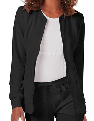 Code Happy Cloud Nine Women's Antimicrobial Certainty Zip Front Warm-Up Jacket