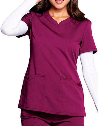 Code Happy Cloud Nine Women's V-Neck Scrub Top