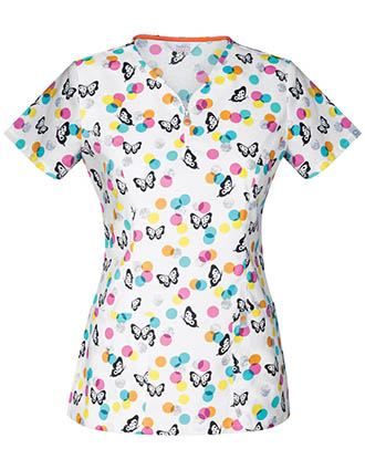 Code Happy You've Dot This Women's Butterfly Print Top