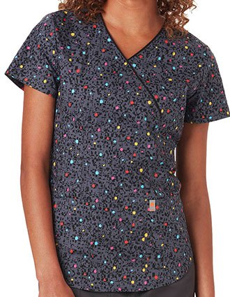 Code Happy Animal Instincts Women's So Speck-tacular Mockwrap Top
