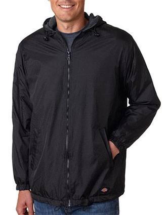 Dickies Adult Fleece-Lined Ripstop Nylon Jacket-DI-33237