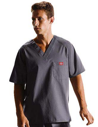 Dickies EDS Men Raglan Sleeved Solid Nurses Scrub Top-DI-816106