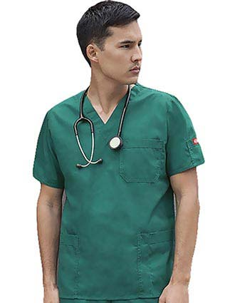 Dickies Mens Two Pocket Utility Nursing Scrub Top-DI-816406