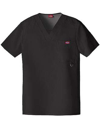 Dickies Extreme Stretch Men Solid V-Neck Nursing Scrub Top-DI-81910