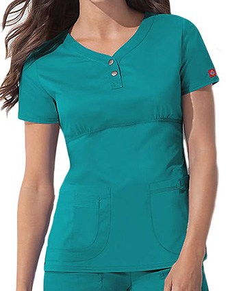 Dickies GenFlex Junior Multi-Pocket Empire Waist Scrub Top-DI-82721
